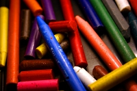 bunch of colorful crayons