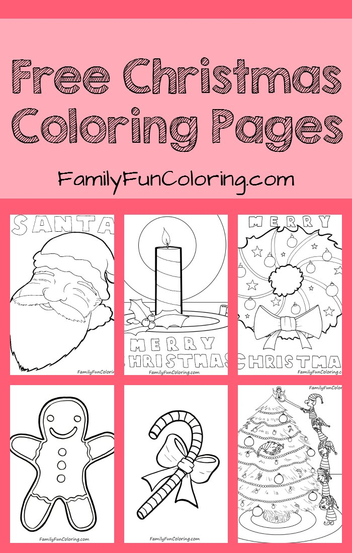 Free Christmas Coloring Pages 1