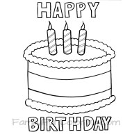 Happy Birthday Coloring Pages - FamilyFunColoring