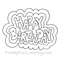 happy birthday coloring pages - Coloring Pages For Happy Birthday