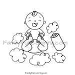 Diaper Change Baby Coloring Page Familyfuncoloring